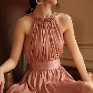 Shimmering satiny mini dress